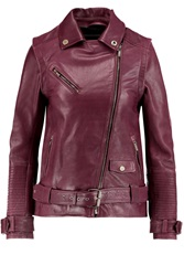Karl Lagerfeld Holly Convertible Textured Leather Jacket