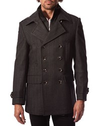 7 Diamonds Glasgow Wool Blend Peacoat Charcoal