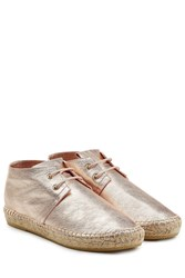 Robert Clergerie Leather Espadrilles Rose