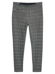 Violeta By Mango Checked Pattern Leggings Grey