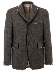 Thom Browne Tweed Jacket Black
