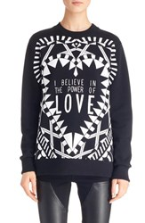 Women's Givenchy 'Power Of Love' Graphic Cotton Sweatshirt