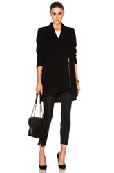 Michelle Mason Zipper Coat In Black