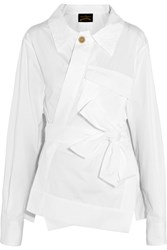 Vivienne Westwood Builders Asymmetric Cotton Poplin Shirt White