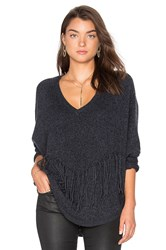 Velvet By Graham And Spencer Julietta Cashmere Pullover Charcoal