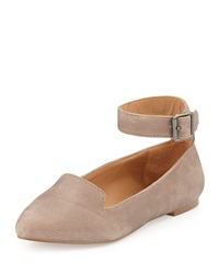 Kelsi Dagger Yelle Leather Ankle Wrap Flat Taupe