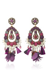 Ranjana Khan Amethyst Lilac Pearl Earrings Purple