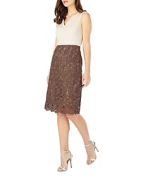 Phase Eight Palmer Mixed Media Dress Praline Oyster