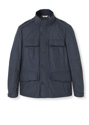 Mango Technical Field Jacket Navy