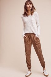 Anthropologie Garment Dyed Joggers Bronze