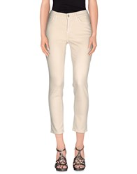 Cambio Denim Denim Trousers Women Beige