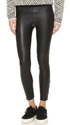 David Lerner Pull On Vegan Leather Leggings Classic Black