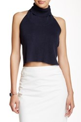 Madison Square Wilde Heart Curator Backless Crop Tank Blue