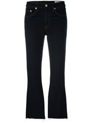 Rag And Bone Cropped Flared Jeans Blue