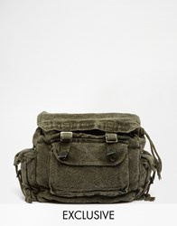 Reclaimed Vintage Overdyed Backpack Green