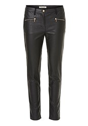 Betty Barclay Faux Leather And Suede Trousers Black