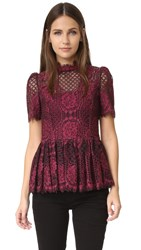 Alexis Elle Top Burgundy Lace