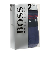 Hugo Boss Stripe Trunks Pack Of 2 Male Blue