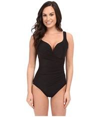 Miraclesuit Solid Wraptress One Piece Black Women's Swimsuits One Piece