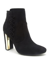 Qupid Panel Ankle Boot Black