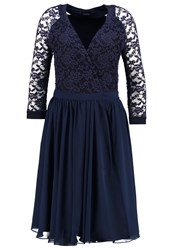 Swing Cocktail Dress Party Dress Marine Dark Blue