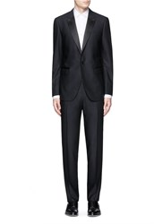 Lanvin 'Attitude' Satin Peak Lapel Wool Tuxedo Suit Blue