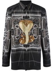 Givenchy Cobra Print Shirt Black