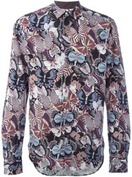 Valentino Butterfly Print Shirt Multicolour