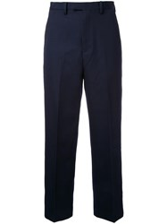 Cityshop Wide Leg Cropped Chinos Blue