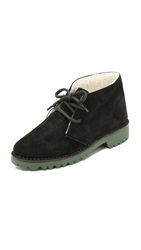 Studio Pollini Wool Lined Chukka Booties Black