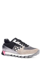 Dolce And Gabbana Women's Mixed Media Houndstooth Sneaker