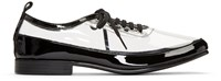 Comme Des Garcons Clear And Black Pvc Derbys