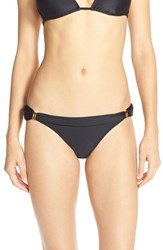 Women's Vix Swimwear 'Solid Black Sunset' Bia Tube Bikini Bottoms