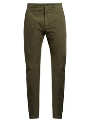 Tomas Maier Cotton Poplin Chino Trousers Green