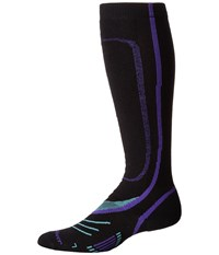 Fox River Vvs Lw Pro Black Purple Women's Crew Cut Socks Shoes Multi