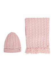 Tommy Hilfiger Luca Cable Knit Set Pink