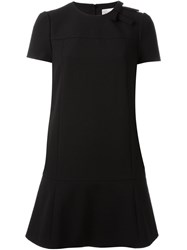 Red Valentino Shortsleeved Flared Dress Black