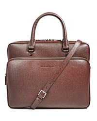 Salvatore Ferragamo Revival Antiqued Leather Briefcase Wine Fonde