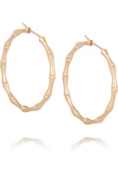 Gucci 18 Karat Rose Gold Bamboo Hoop Earrings