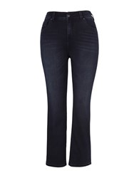 Melissa Mccarthy Seven7 Plus Cotton Blend Whiskered Jeans Blue