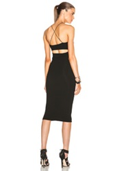 T By Alexander Wang Modal Spandex Strappy Tank Dress In Black