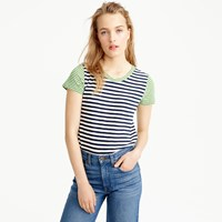 J.Crew Vintage Cotton Mixed Stripe T Shirt