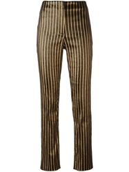Sonia Rykiel Striped Slim Fit Trousers Black