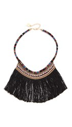 Adia Kibur Charlie Statement Necklace Black