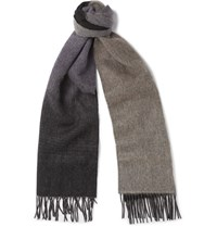 Paul Smith Degrade Wool And Cashmere Blend Scarf Black