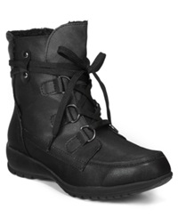 Sporto Kona Lace Up Hiker Booties Women's Shoes Black