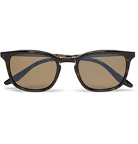 Barton Perreira Luxon Folding Tortoiseshell Acetate And Metal Polarised Sunglasses Brown