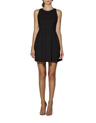 Cynthia Rowley Pleated Fit And Flare Dress Black
