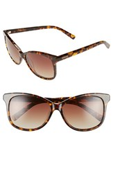 Women's Polaroid Eyewear 57Mm Polarized Cat Eye Sunglasses Havana Polarized
