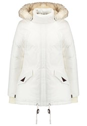 Schott Nyc Freya Down Coat White